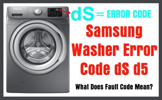 Samsung Front Load Washer Error Code dS or d5