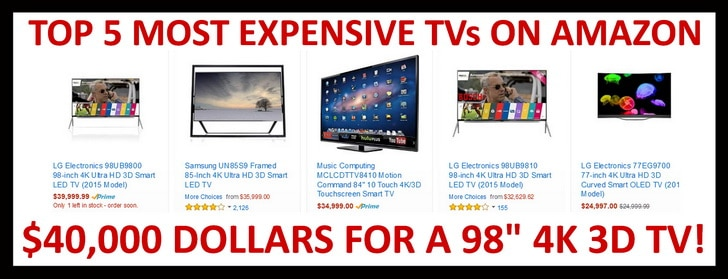 Top 5 most expensive TVs
