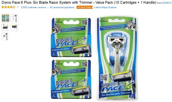 dorco mens razors on amazon