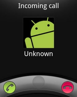 Unknown caller on Android phone