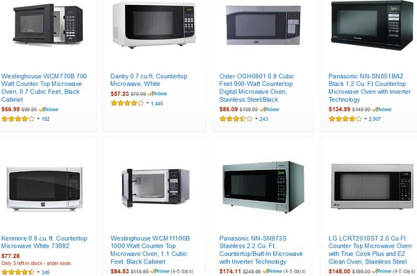 new microwaves