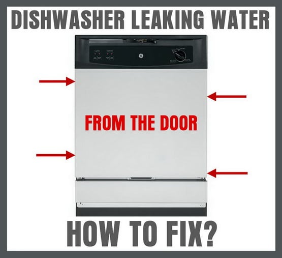 Dishwasher leaking water from door