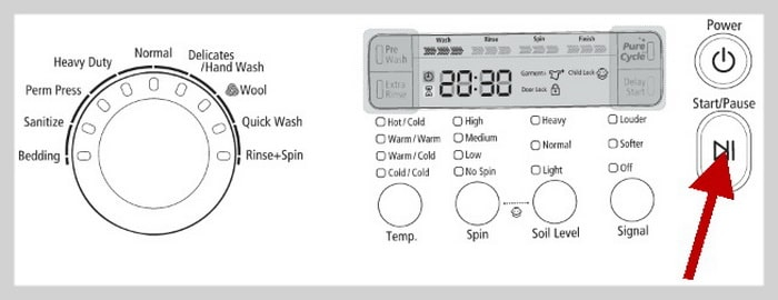 samsung washing machine troubleshoot