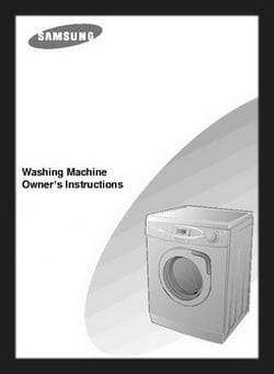 samsung front load washer quick user guide manual
