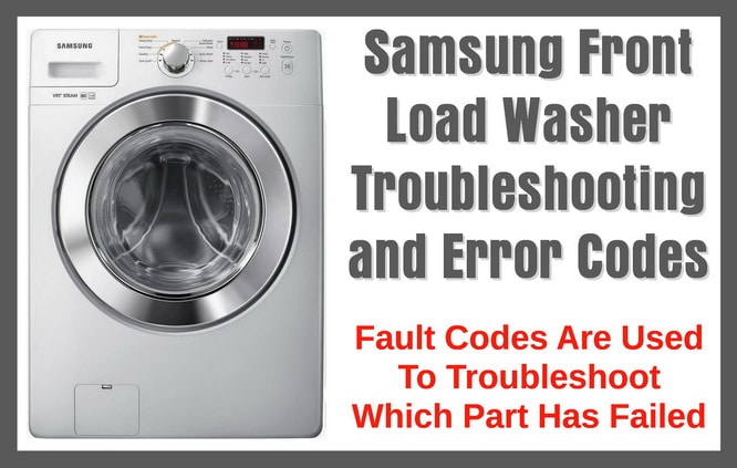 Samsung front load washer troubleshooting and - Common washing machine problems ...