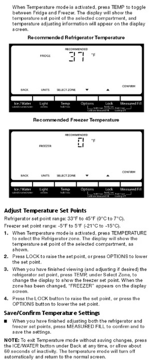 Whirlpool Refrigerator - Using The Control Panel 2