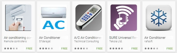 Air conditioner remote APP for Android