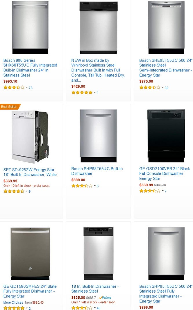 Best Selling Energy Star Built In Dishwashers