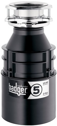 InSinkErator Badger 5 0.5 HP Food Waste Disposer top 10 best garbage disposals to buy and install yourself diy badger garbage disposal wiring diagram at reclaimingppi.co