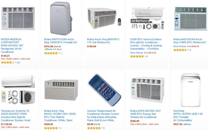 Midea Air Conditioner Units and Remote Controls Replacement Parts