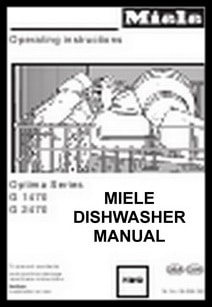 Miele Dishwasher Manual