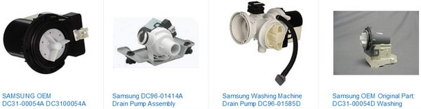 Samsung washer drain pumps