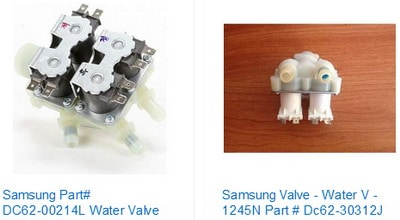 Samsung washer water inlet valve