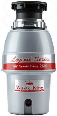 Waste King L-2600 Legend Series 0.5 HP Continuous Feed Operation Garbage Disposal