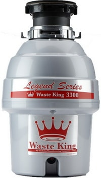 Waste King L-3300 Legend Series 0.75 HP Continuous Feed Operation Garbage Disposer