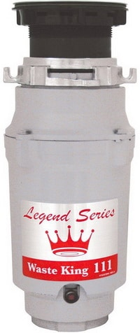 Waste King Legend Series L-111 0.33 HP Continuous Feed Operation Garbage Disposer