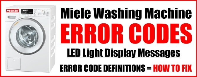 Miele Washing Machine Error Codes