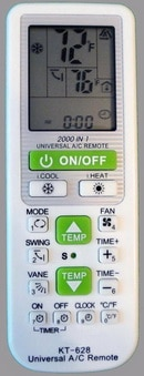 Universal AC Remote Replacement Remote Control with 2000 Codes