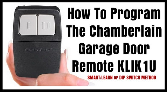How To Program The Chamberlain Garage Door Remote Klik1u
