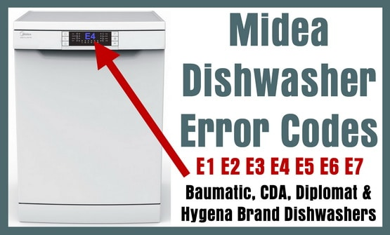 Midea Dishwasher Error Codes