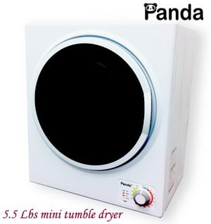 Panda Mini Stainless Steel Tumble Dryer 5.5 to 6.6 lbs Compact Apartment Dryer PAN725SF