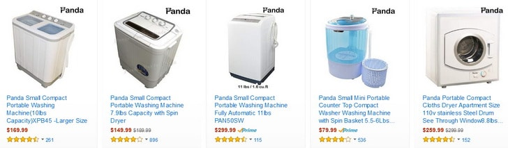Panda washer and dryers