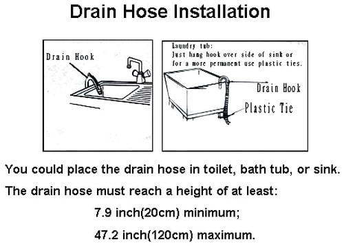 Panda washing machine drain hose installation