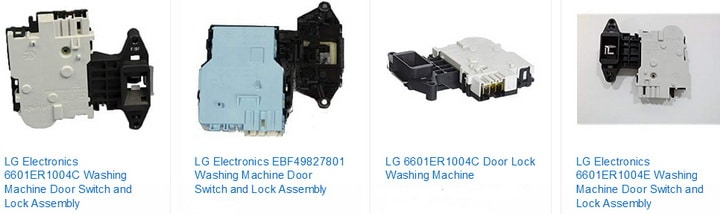 LG washing machine door lock switch lock assembly parts