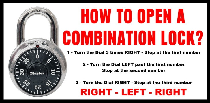 How to turn the dial on a master lock - Which way to turn combination lock?