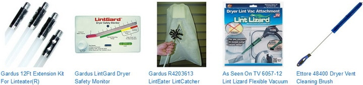 Lint Cleaning Brushes made especially for Dryer Exhaust Systems