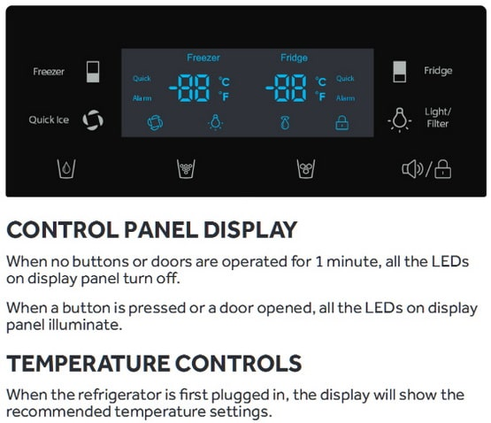 Haier refrigerator digital display panel 3