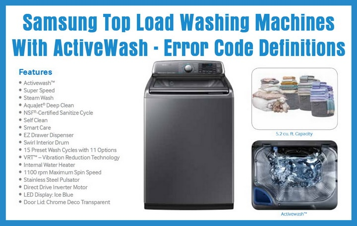 Samsung top loading washer error code definitions