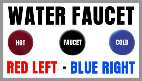 Water Faucet - Red Left - Blue Right
