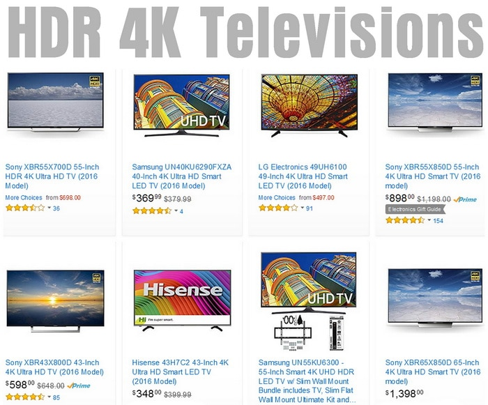 4K Ultra HD TVs with High Dynamic Range - HDR - Best Sellers