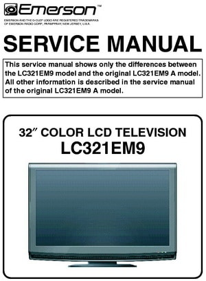 Tv service repair manuals schematics and diagrams emerson lcd tv service manual fandeluxe Images