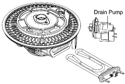 LG Dishwasher Heater And Drain Pump Diagram