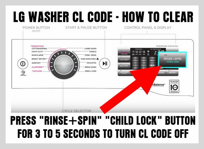 LG washer cl code - How to turn off