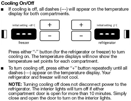 Maytag Refrigerator Cooling ON and OFF-HOW TO