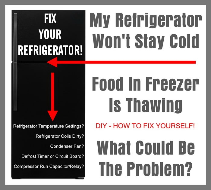 My Refrigerator Won't Stay Cold - Food In Freezer Thawing