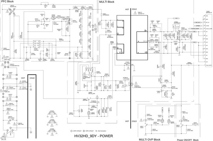 SAMSUNG LCD TV Circuit tv service repair manuals schematics and diagrams samsung led tv wiring diagram at bakdesigns.co
