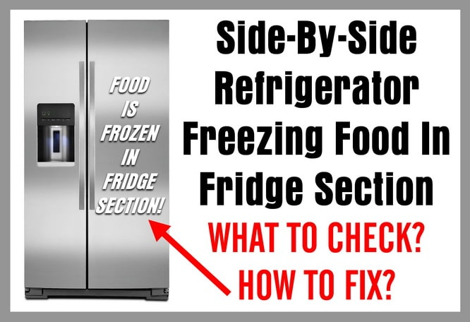 Side-By-Side Refrigerator Freezing Food In The Refrigerator Section