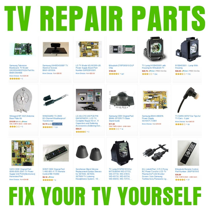 Tv service repair manuals schematics and diagrams tv repair and replacement parts circuit boards power supply boards fandeluxe Images