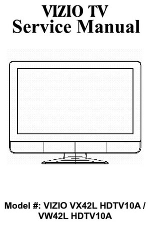 Tv service repair manuals schematics and diagrams vizio hdtv service and repair manuals fandeluxe