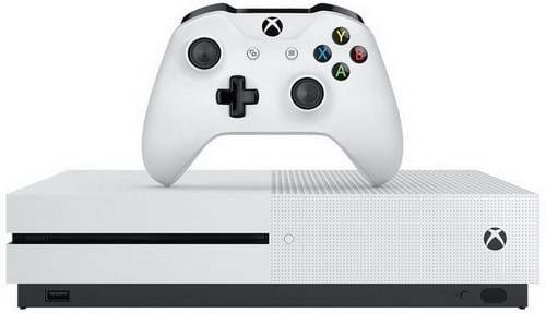 Xbox One S 500GB Console with 4K Blu-ray, 4K video streaming, and HDR