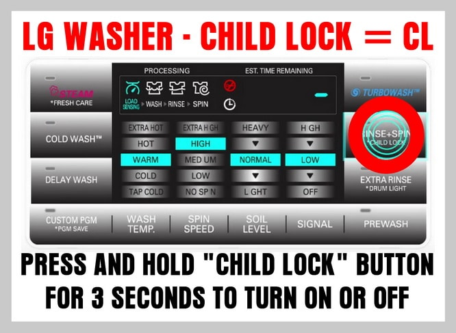 lg washer cl code lg washer error code cl how to turn child lock off LG True Balance Not Draining at gsmportal.co