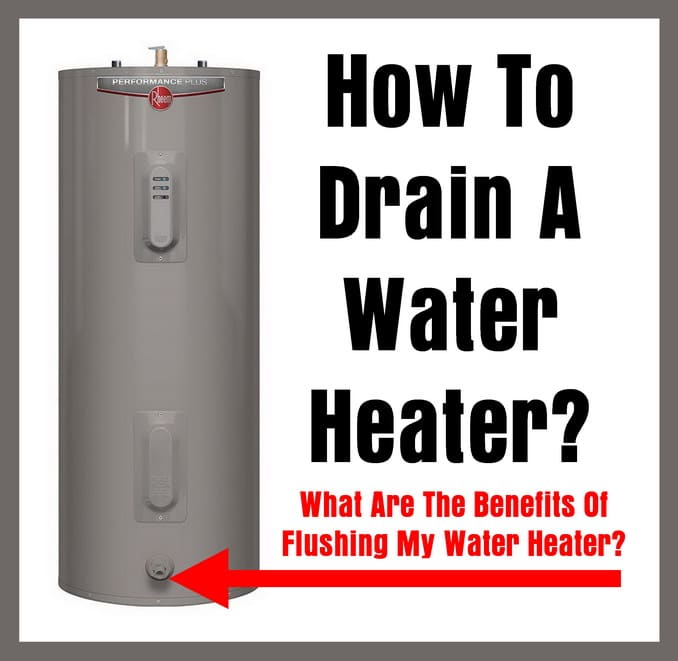 Electric Water Heater - How To Drain