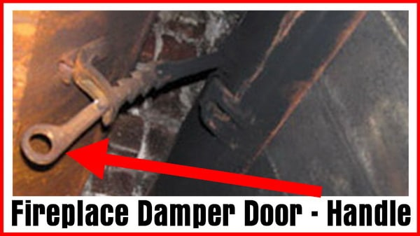 Fireplace Damper Door and Handle
