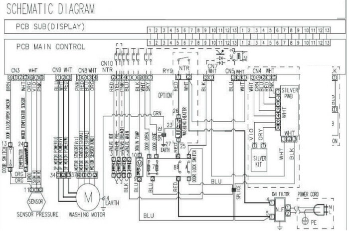 Samsung Washing Machine ELECTRICAL SCHEMATIC DIAGRAM WF328AA Models samsung washing machine error code 3e removeandreplace com samsung dryer wiring schematic at webbmarketing.co