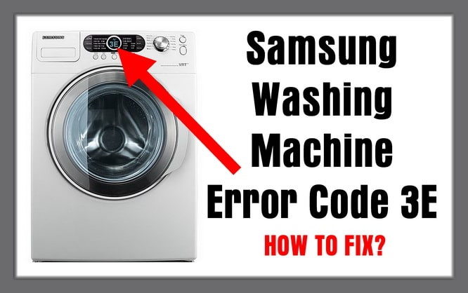 efo error message on washing machine