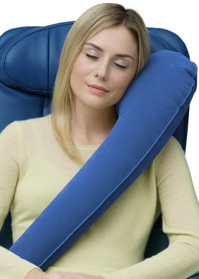 Travelrest - Ultimate Travel Pillow Neck Pillow - Ergonomic, Patented & Adjustable for Airplanes
